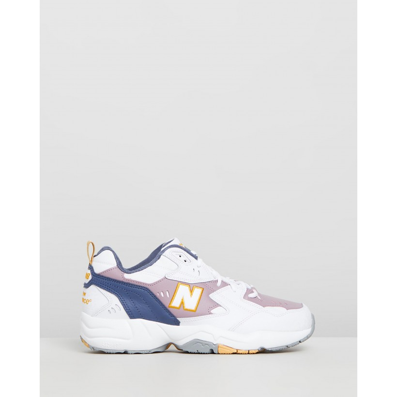MX608 White, Blue & Gold by New Balance Classics