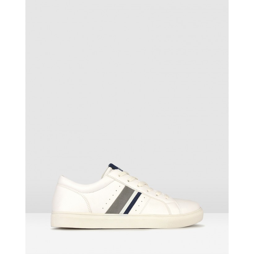 Nate Low Top Lifestyle Sneakers White by Betts
