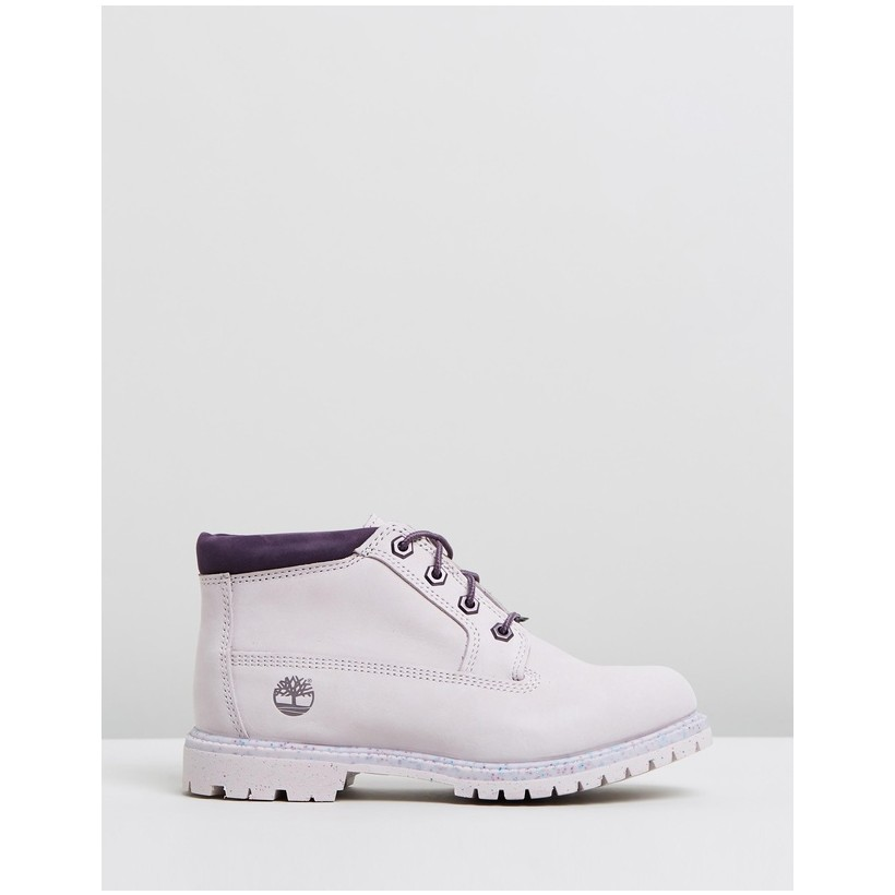 Nellie Chukka Double Waterproof Boots Light Purple Nubuck by Timberland