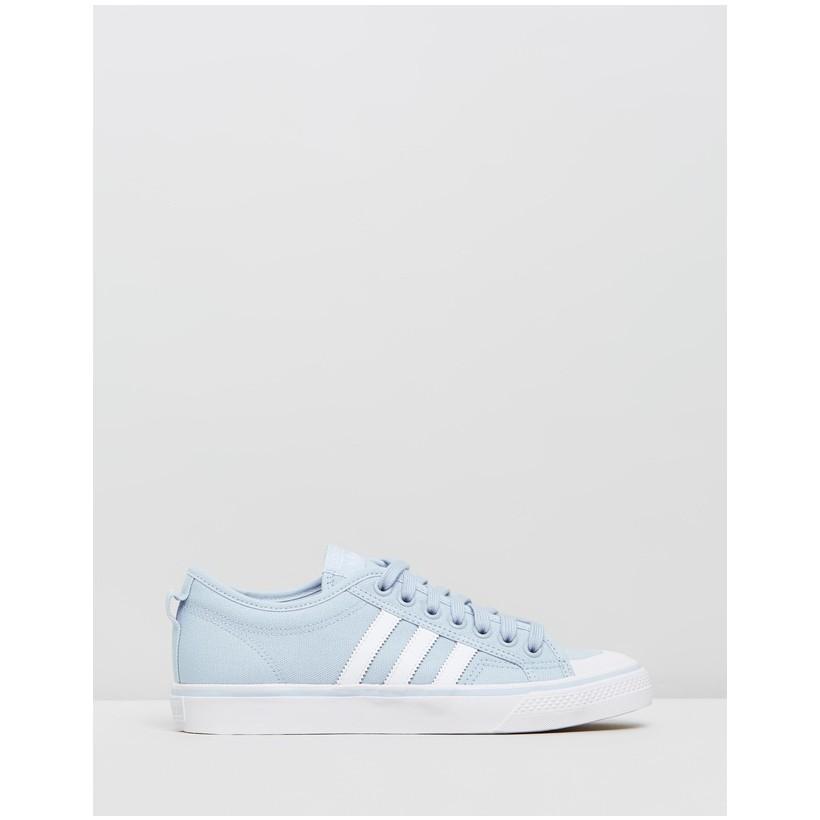 Nizza - Women's Easy Blue, Footwear White & Crystal White by Adidas Originals