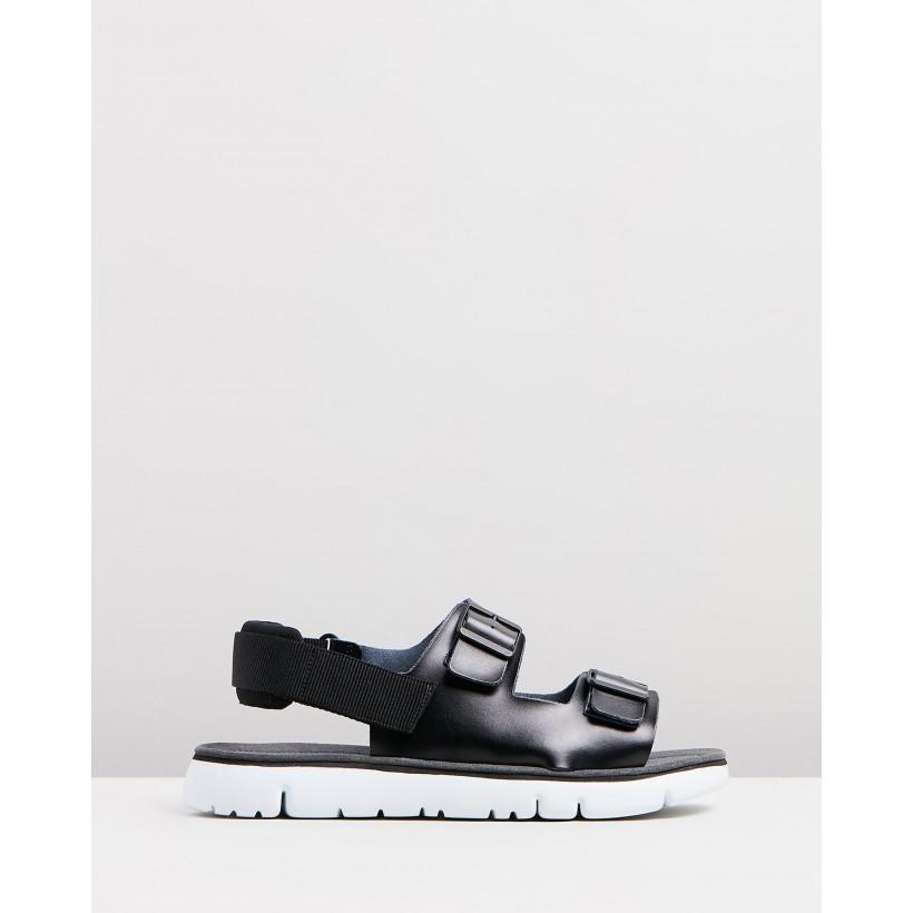 Oruga Sandals Black by Camper