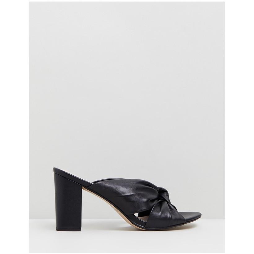 Parade Leather Block Heels Black by Walnut Melbourne