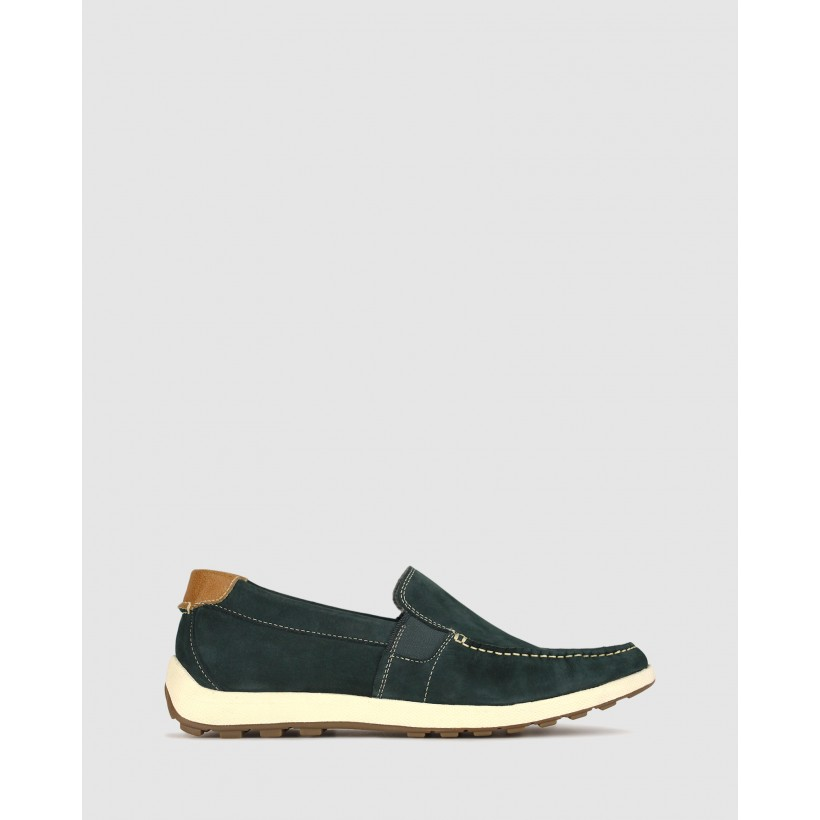 Passage Leather Loafers Navy by Airflex