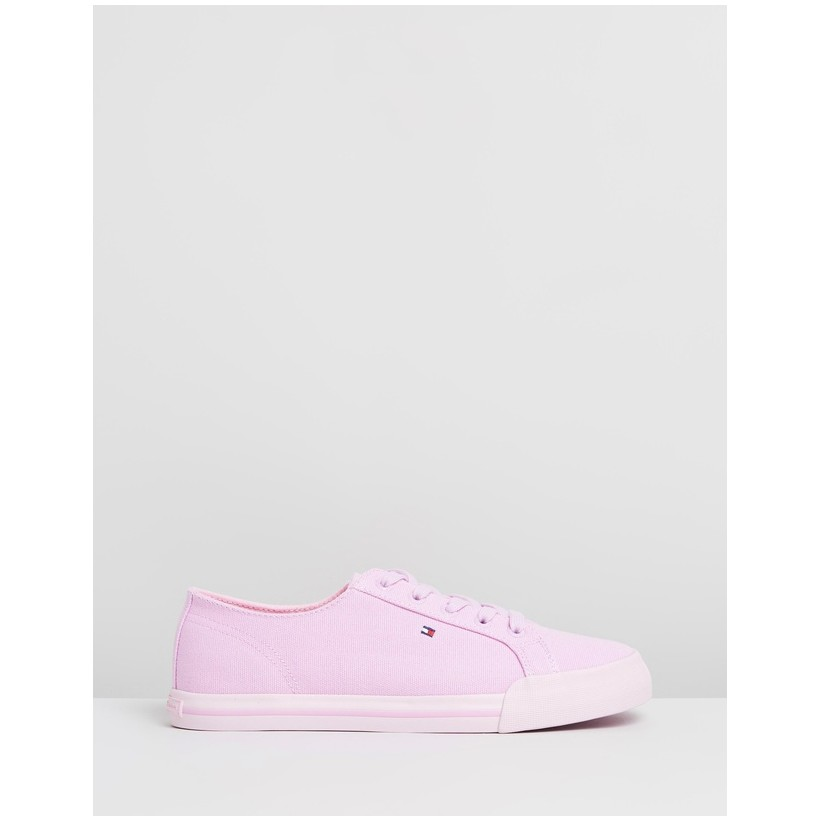 Pastel Essential Sneakers -Women's Pink Lavender by Tommy Hilfiger