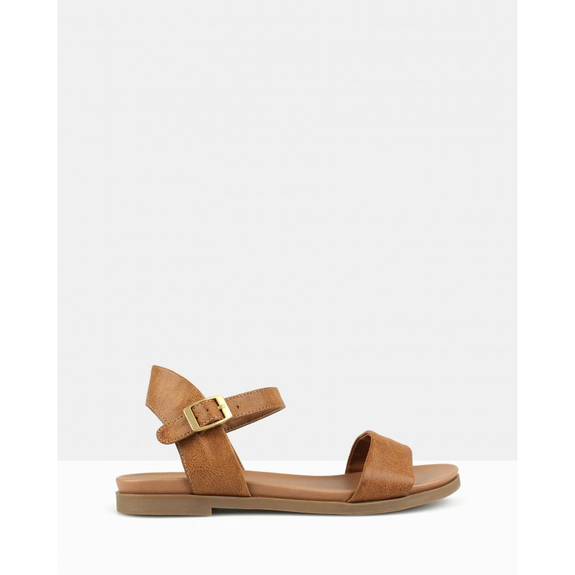 Payback Footbed Sandals Tan by Betts