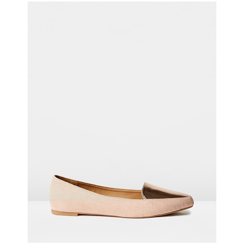 Peta Point Loafers Blush Micro Rose Gold by Rubi
