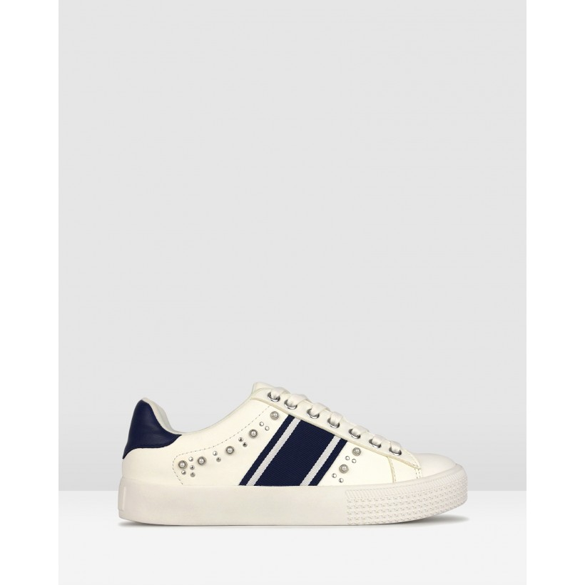 Picnic Embellished Sneakers White Navy by Betts