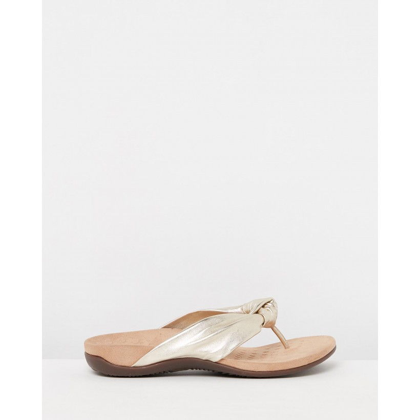 Pippa Toe Post Sandals Champagne by Vionic