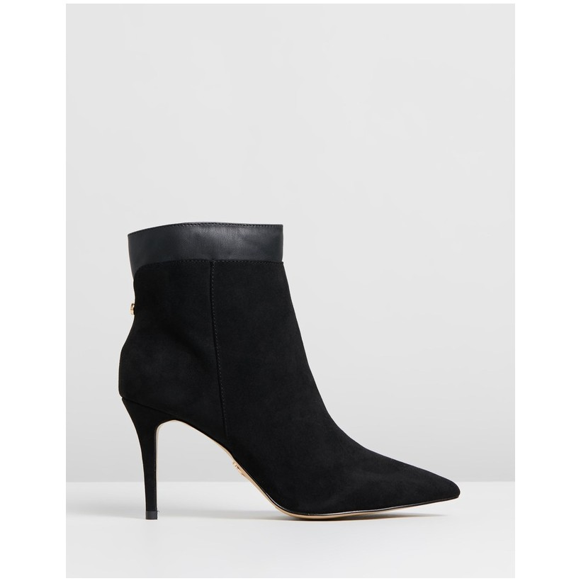 Pointed Ankle Boots Black by Lipsy