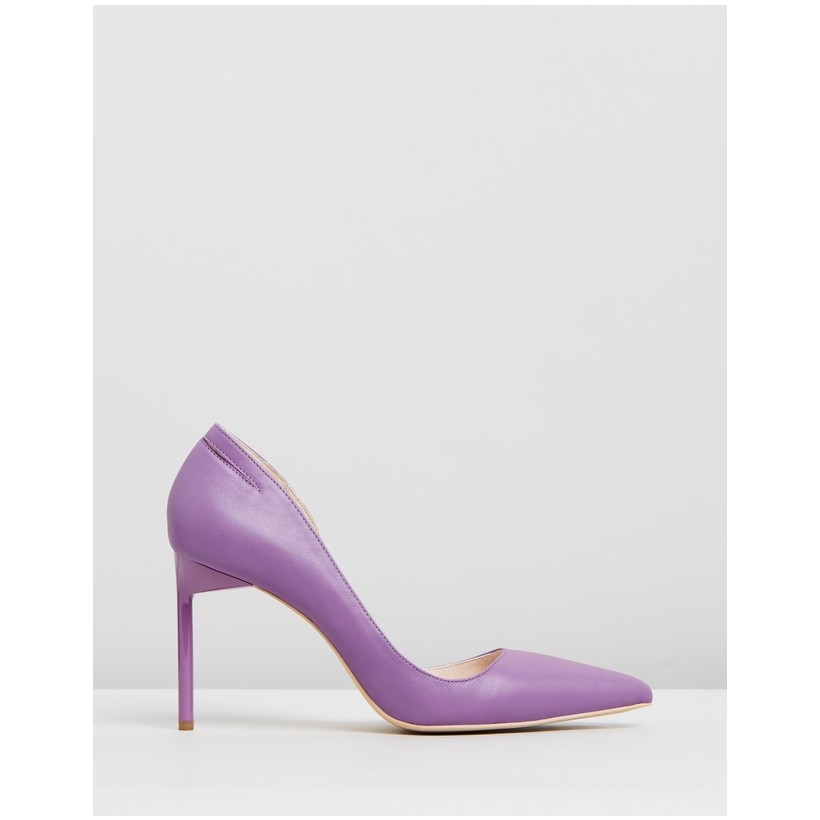 Pointed Pumps Purple by Manning Cartell