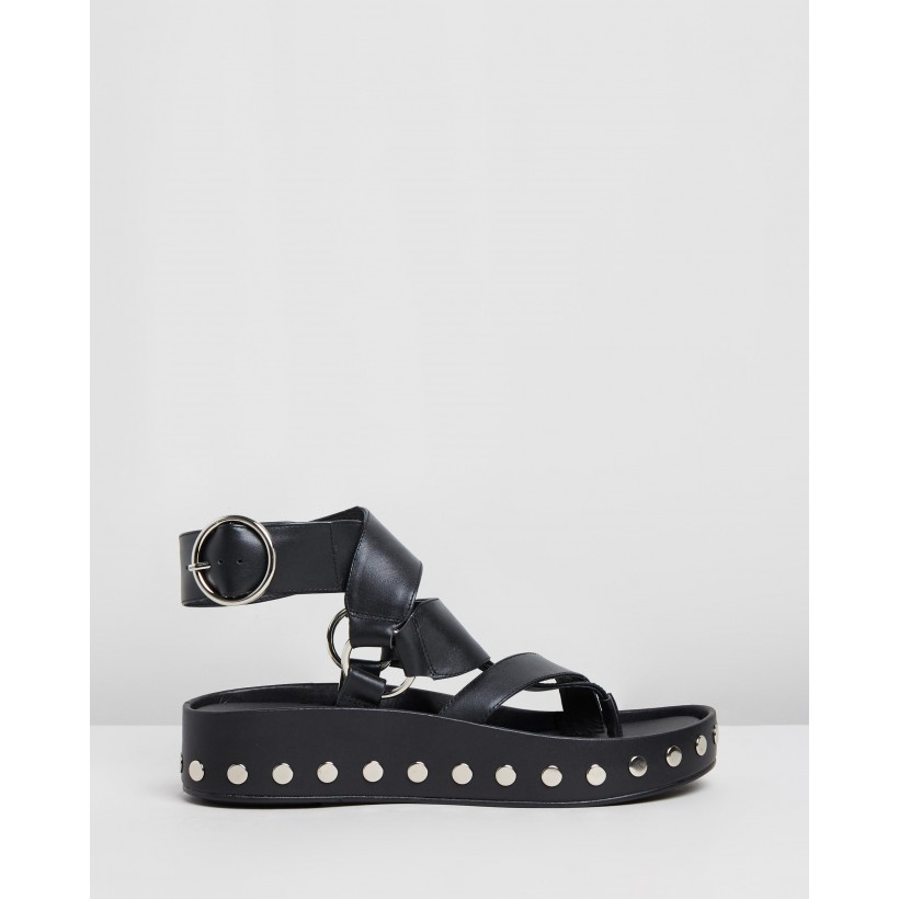 Polly Wedges Black by Sol Sana