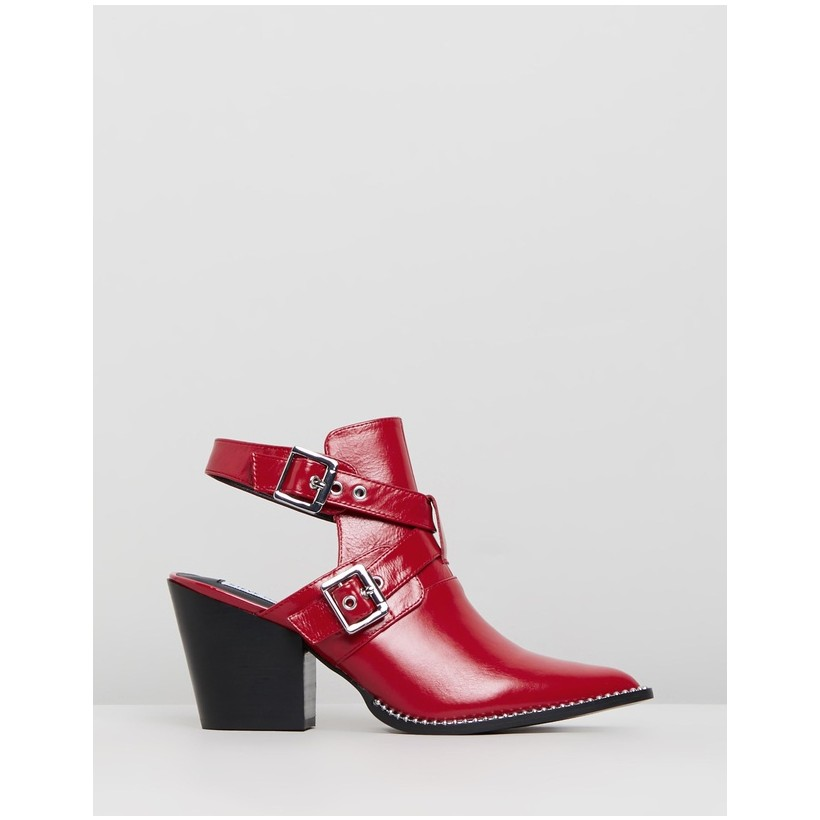 Powered Red Leather by Steve Madden