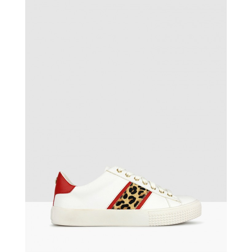 Purr Leopard Lifestyle Sneakers White by Betts