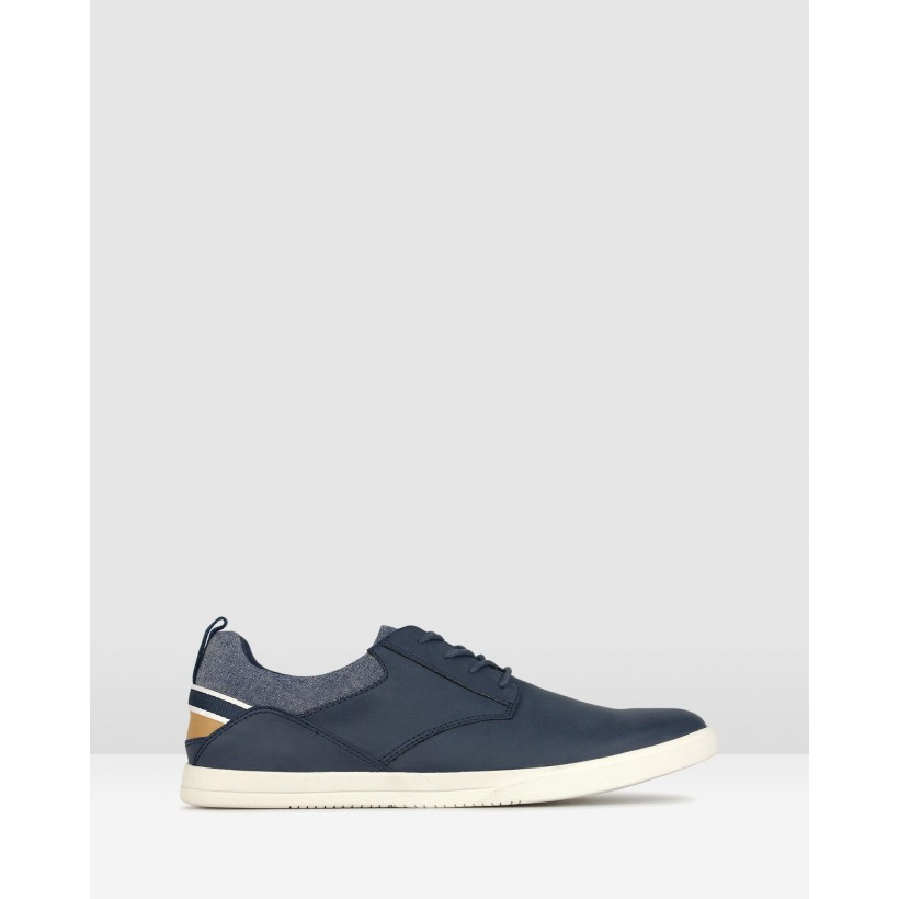 Racer Lace Up Lifestyle Shoes Navy by Zu
