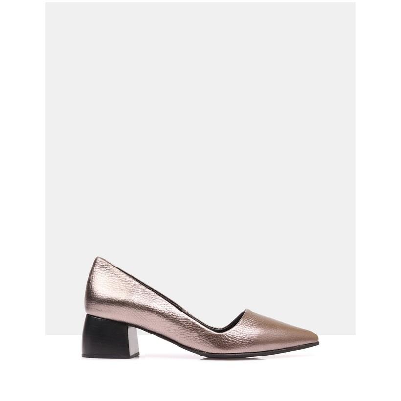 Ranita Court Shoes Bronze by Sempre Di