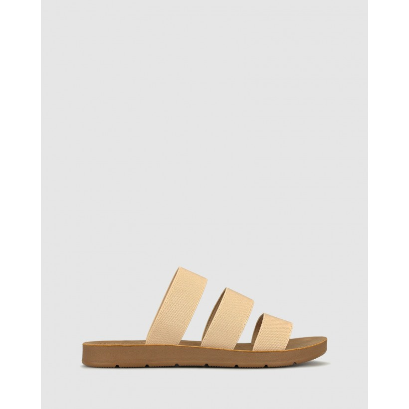 Rays Elastic Slip On Sandals Nude by Betts
