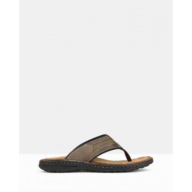Rex Slip-on Sandals Brown by Airflex