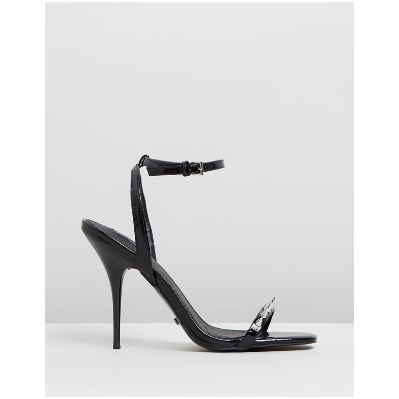 Rica Two Part Skinny Sandals Black by Topshop