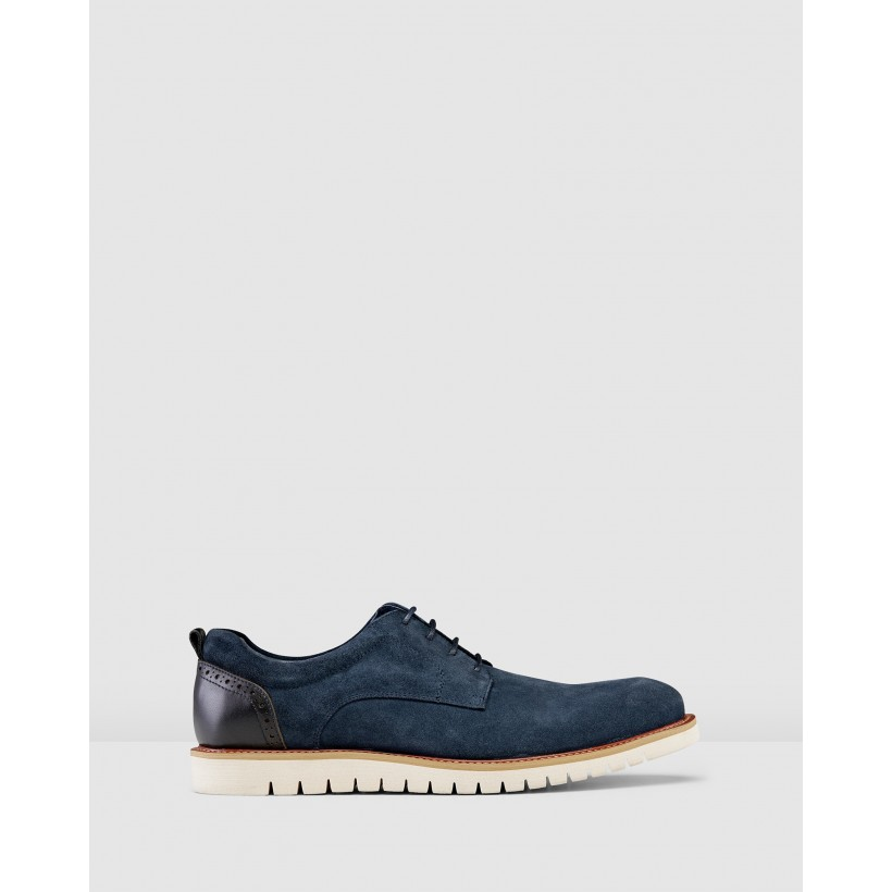 Rich Lace Up Shoes Blue by Aq By Aquila