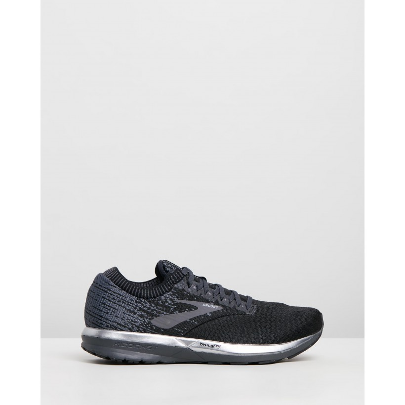 Ricochet - Men's Black & Ebony by Brooks