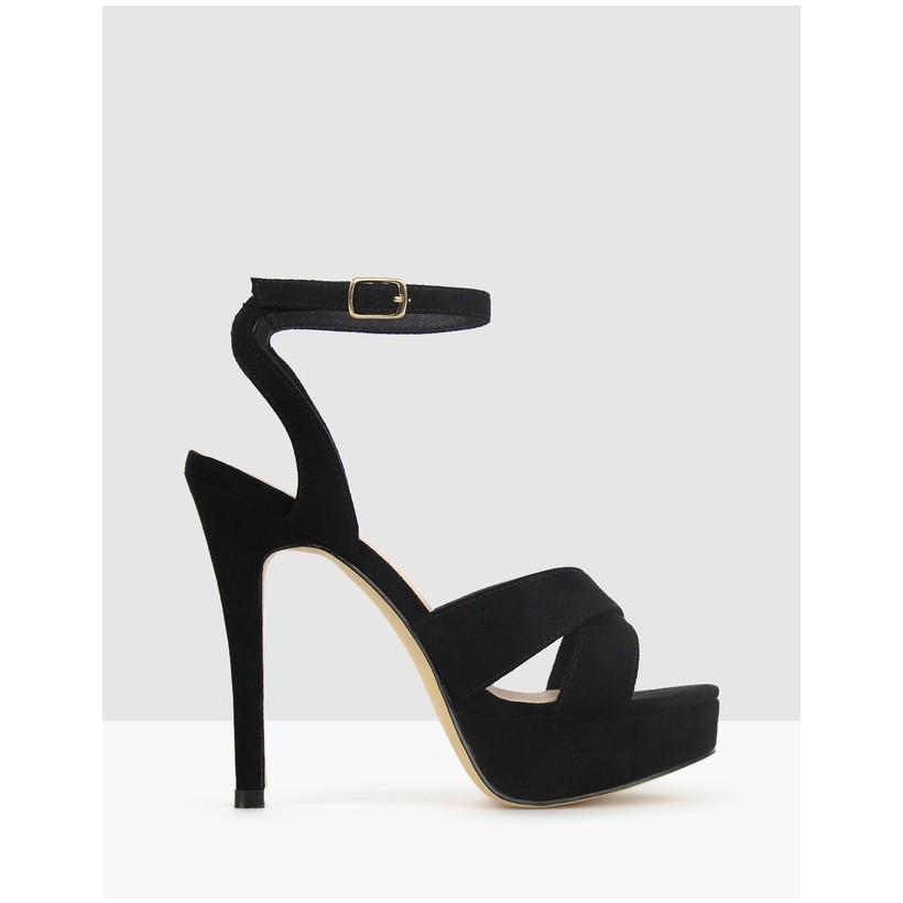 Ridicule Platform Stiletto Sandals Black by Betts