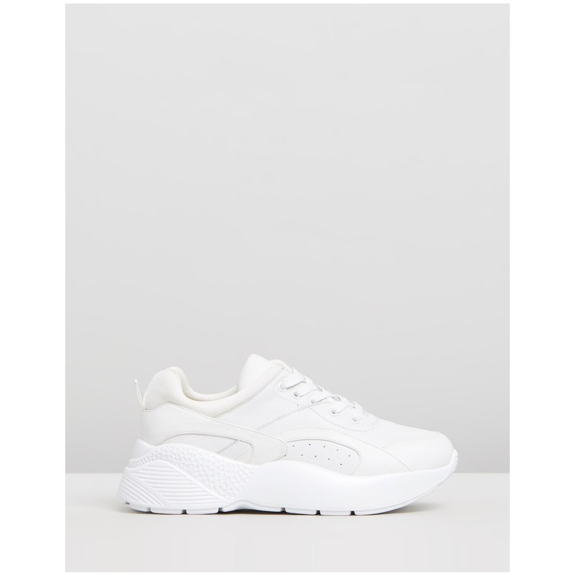 Romy Leather Sneakers White Leather by Atmos&Here