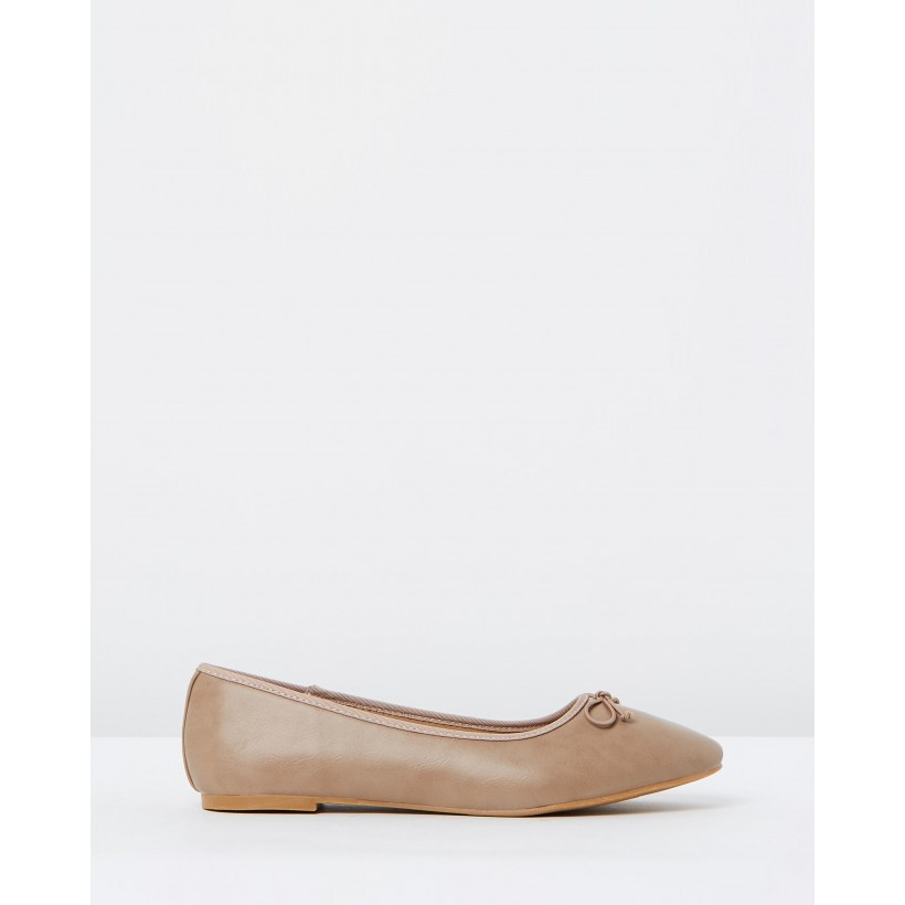 Rosie Bow Flats Taupe by Spurr