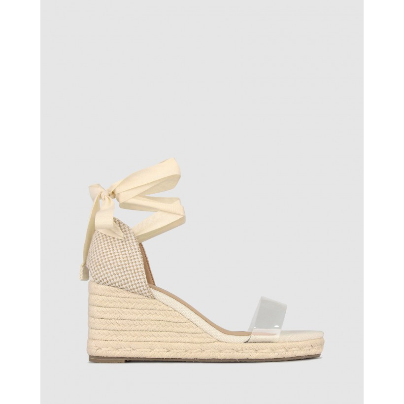 Roza Espadrille Wedge Sandals Natural Clear by Betts