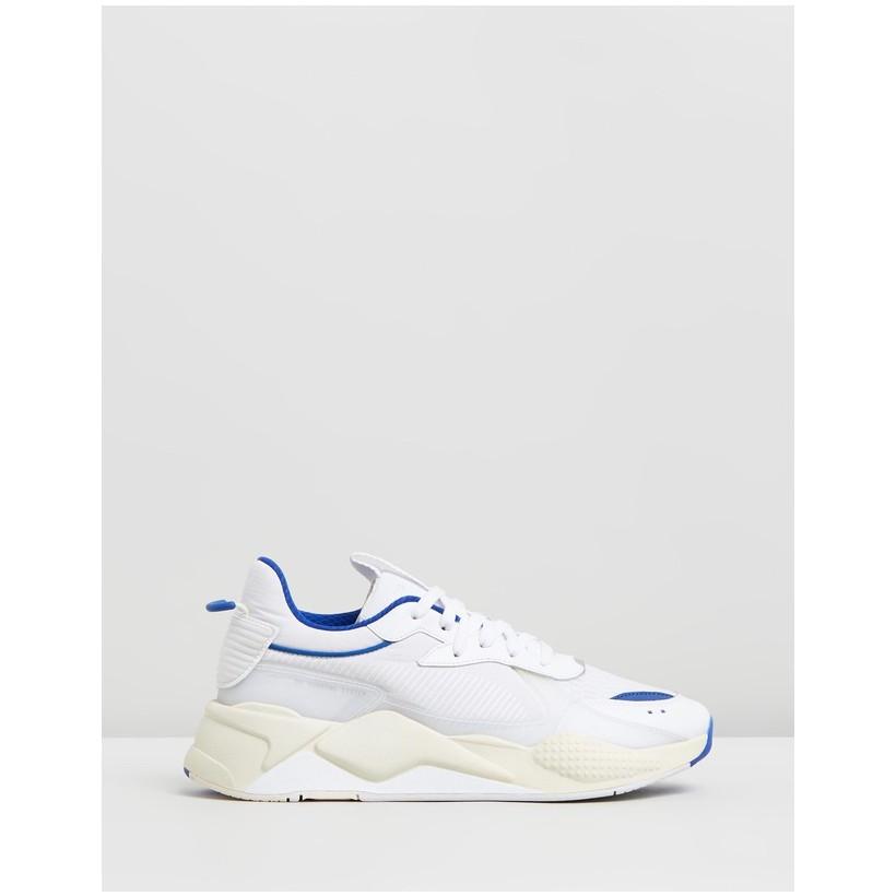 RS-X Tech Sneakers - Unisex Puma White & Whisper White by Puma