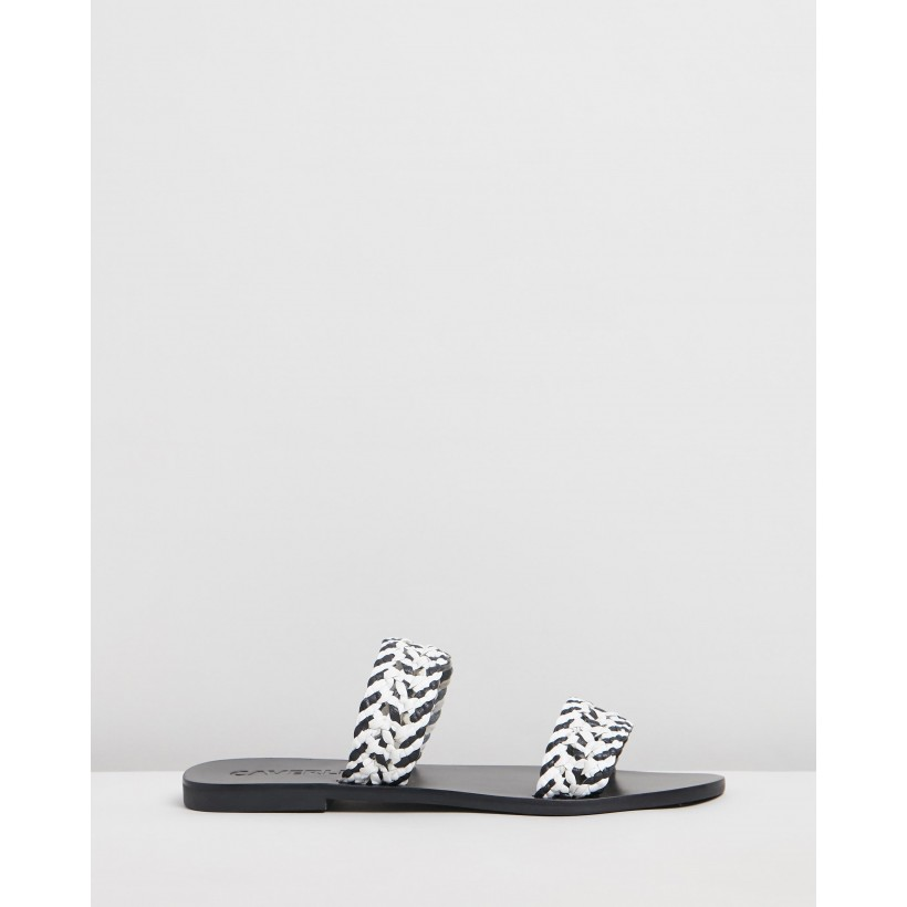 Ryde Weave Sandals Black & White by Caverley