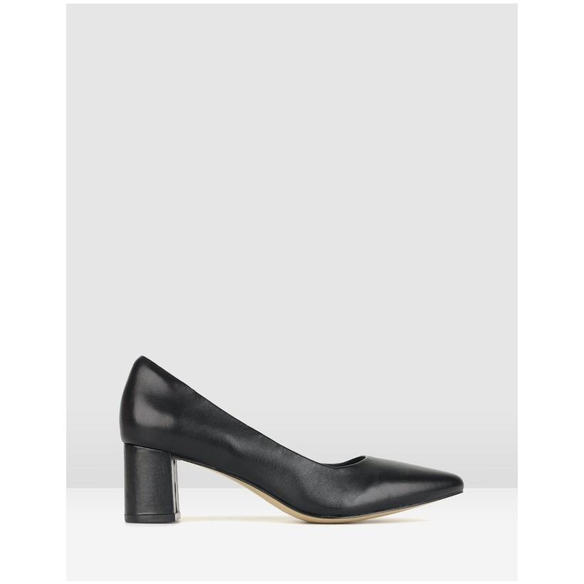 Sabrina Block Heel Pumps Black by Airflex