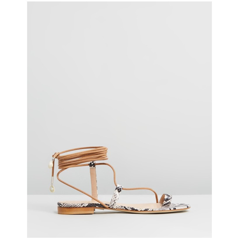 Selma Sandals Python Stamp by Brother Vellies