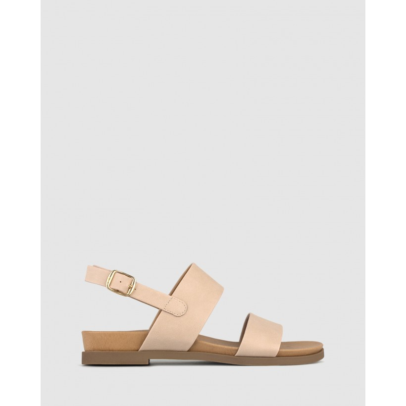 Shari Low Wedge Sandals Latte by Betts