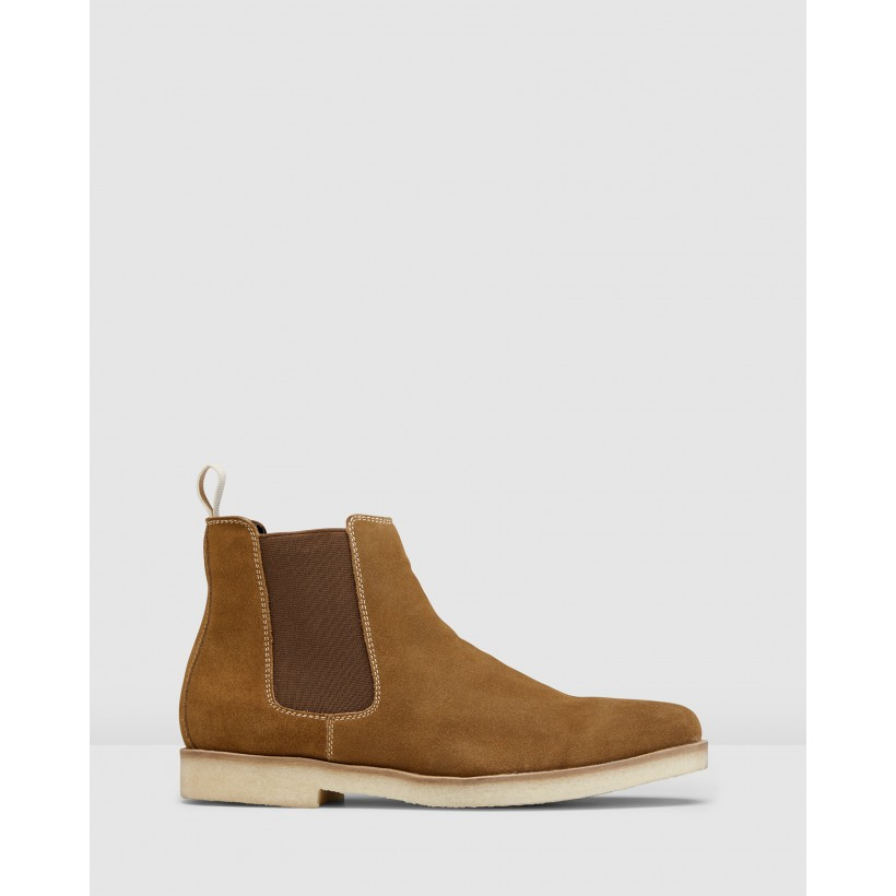 Soho Chelsea Boots Tan by Aq By Aquila
