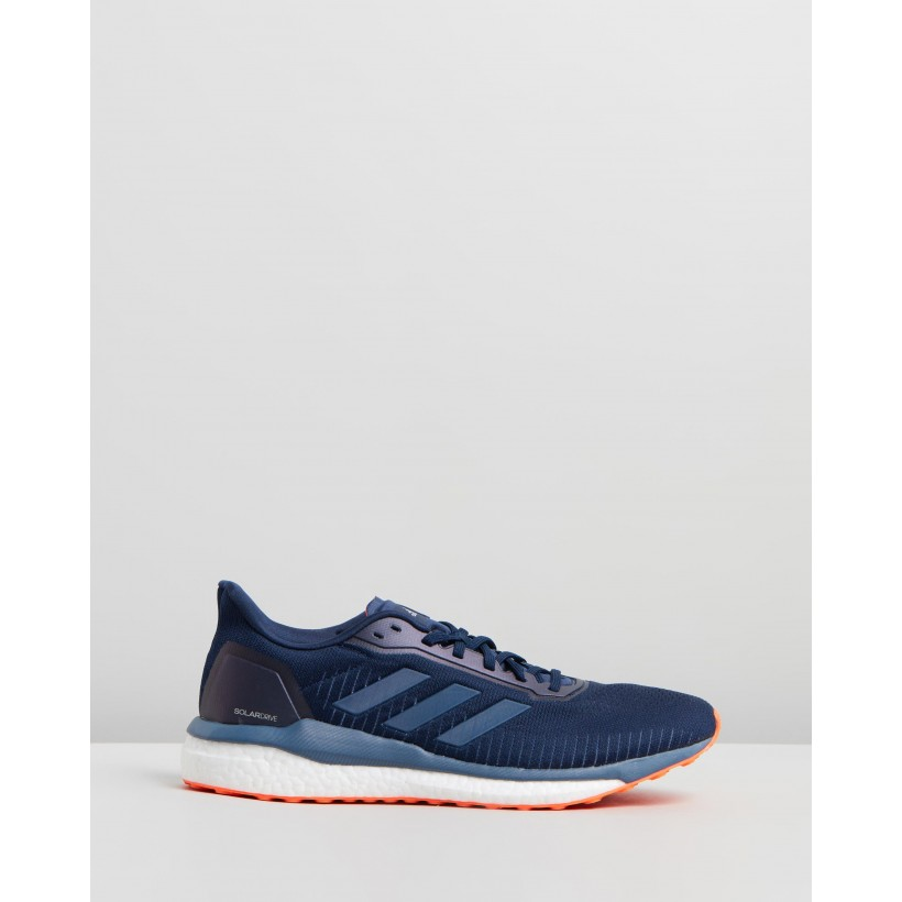 Solar Drive 19 - Men's Collegiate Navy, Tech Ink & Solar Orange by Adidas Performance