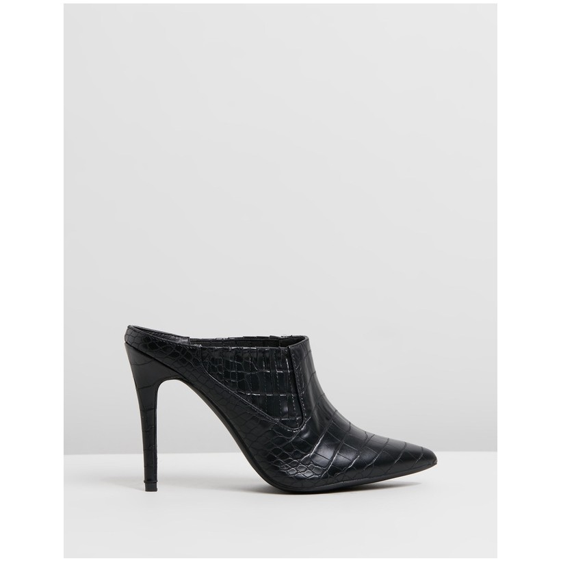 Soraya Heels Black Croc by Spurr