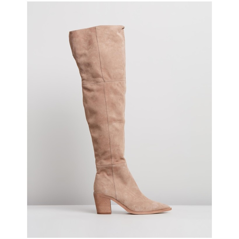 Stefani Natural Kid Suede by Tony Bianco