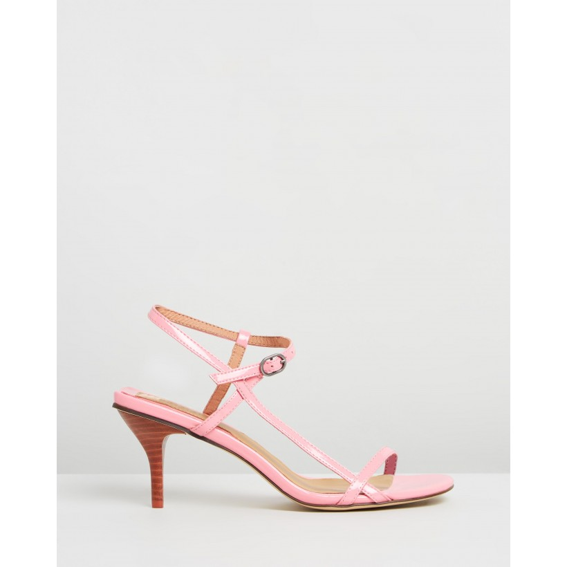 Strappy Patent Sandals Candy Pink by Jaggar The Label