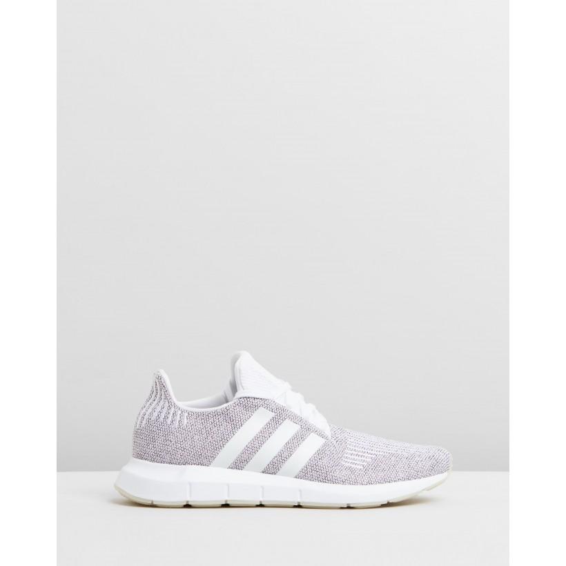 Swift Run - Unisex Cloud White & Core Black by Adidas Originals