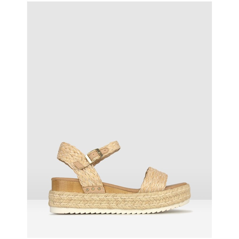 Tahlia Rope Flatform Sandals Natural by Betts