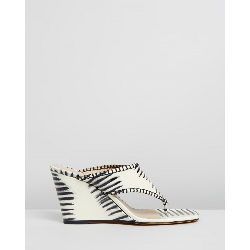 Talia Thongs Zebra by Maryam Nassir Zadeh