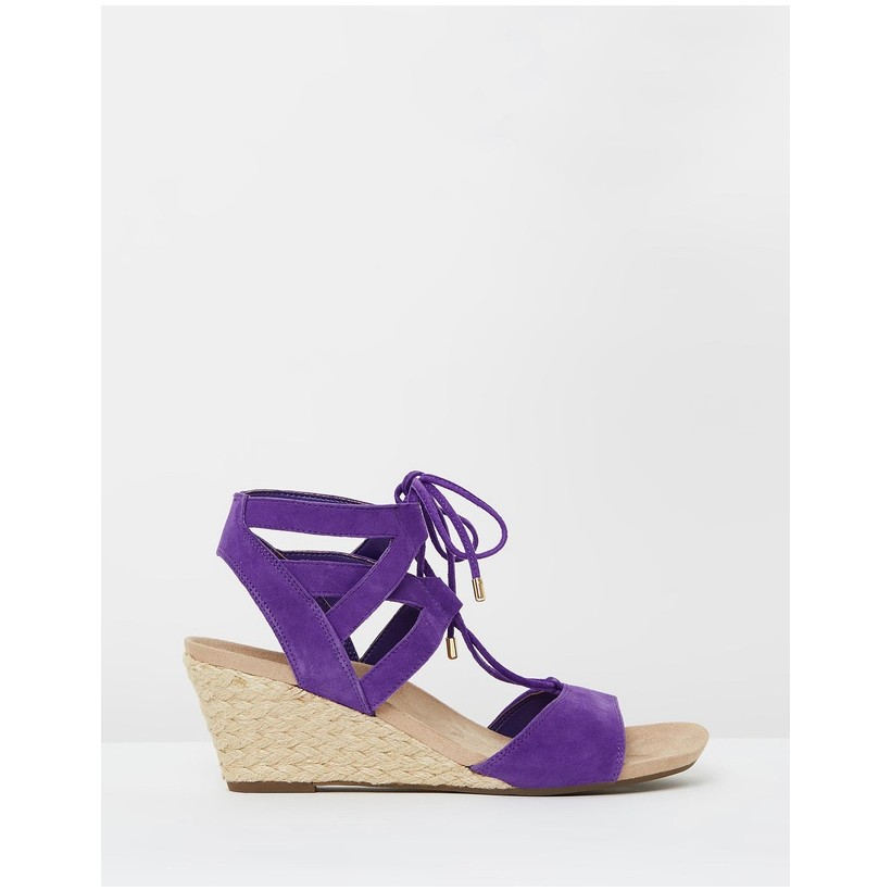 Tansy Wedge Espadrille Sandals Purple by Vionic