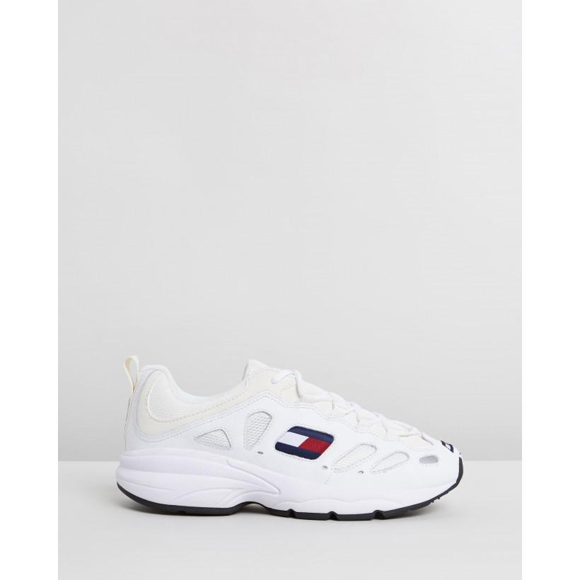 TJ Retro Sneakers - Women's White by Tommy Hilfiger