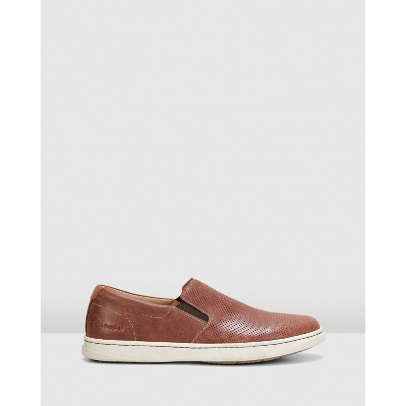 Tony Brown Oiled Leather by Hush Puppies