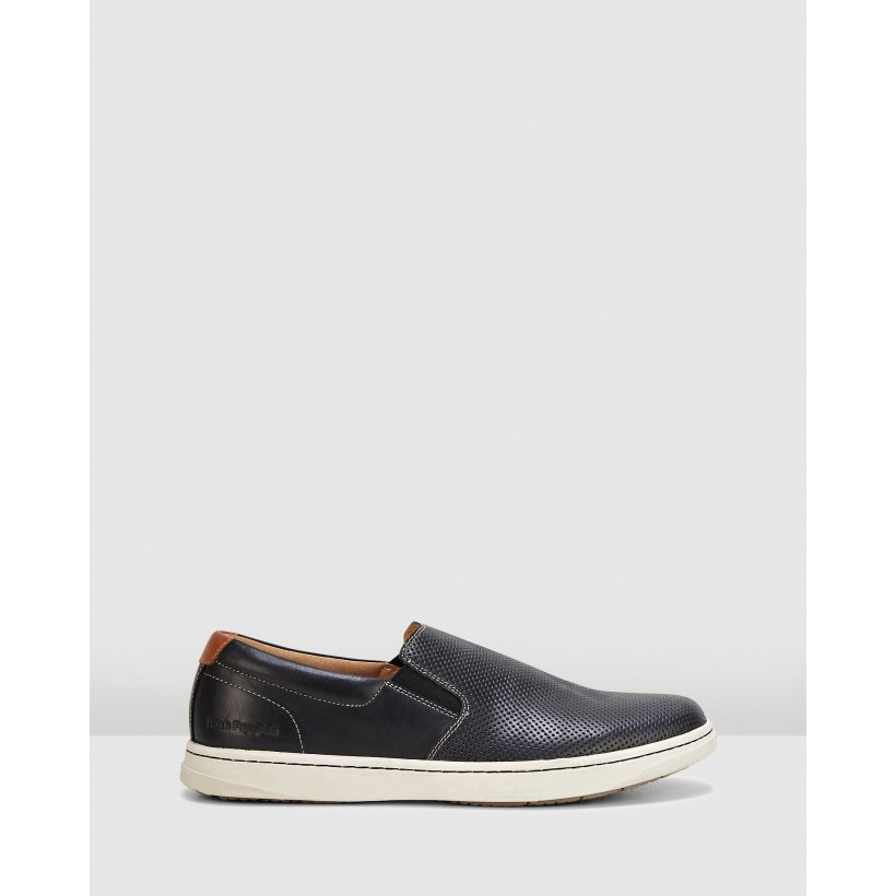 Tony Black Oiled Leather by Hush Puppies