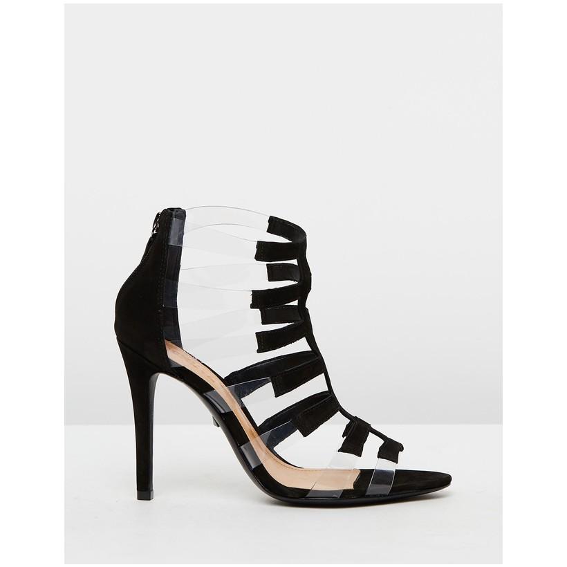 Transparent Strap Heels Black by Schutz