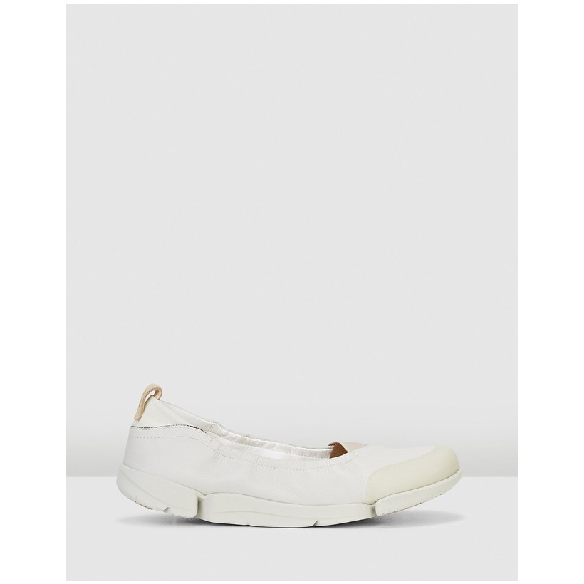 Tri Adapt. White Leather by Clarks