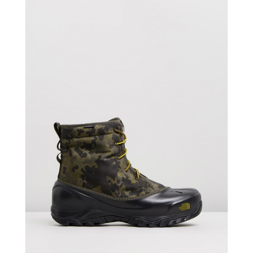 Tsumoru Boots - Men's Tarmac Green Macrofleck Print & Tarmac Green by The North Face