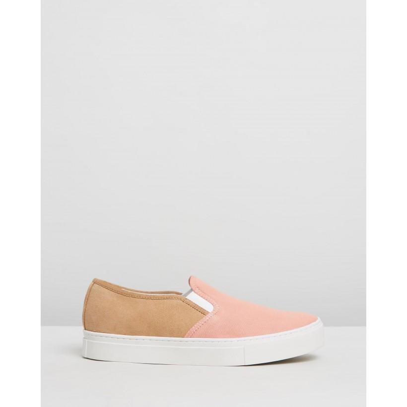 Vass Combo Sneakers British Khaki & Salmon by Saturdays Nyc