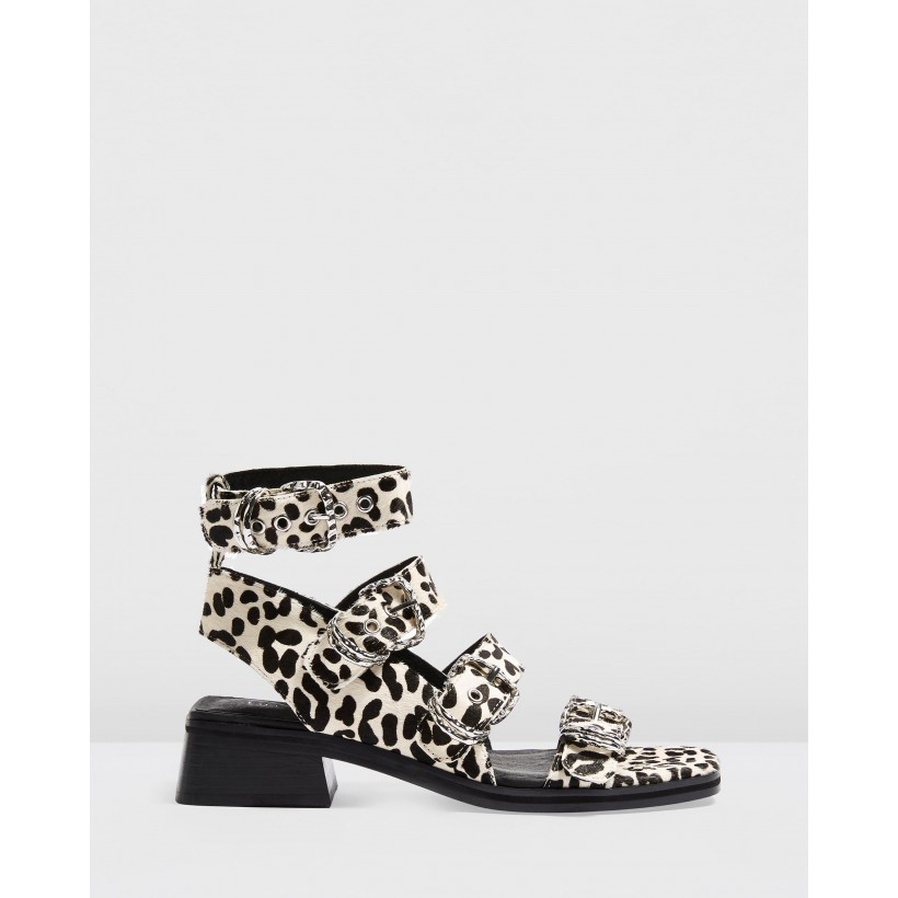Victory Buckle Sandals Monochrome by Topshop